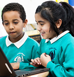 Children using a computer